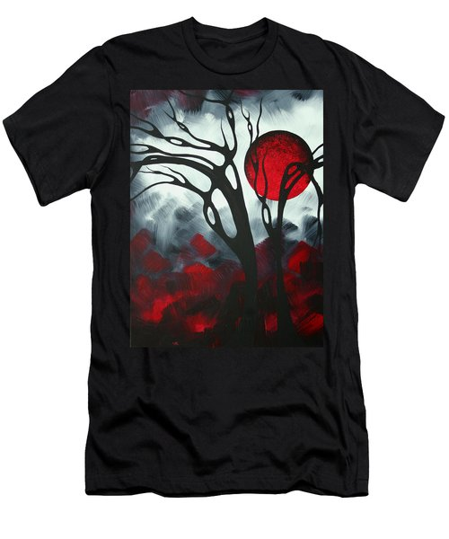 Abstract Gothic Art Original Landscape Painting Imagine I By Madart Men's T-Shirt (Athletic Fit)