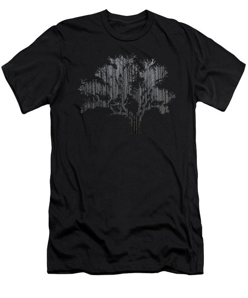 Abstract Gray Tree Men's T-Shirt (Athletic Fit)