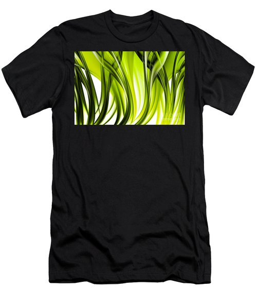 Abstract Green Grass Look Men's T-Shirt (Athletic Fit)