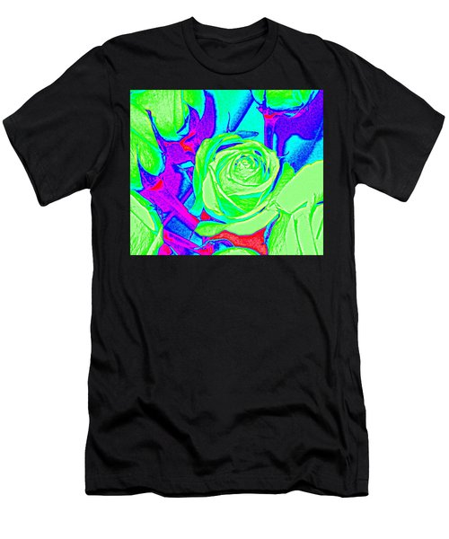 Abstract Green Roses Men's T-Shirt (Athletic Fit)