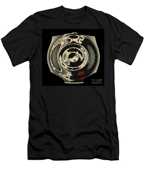 Abstract Japanese Vase Black Men's T-Shirt (Athletic Fit)