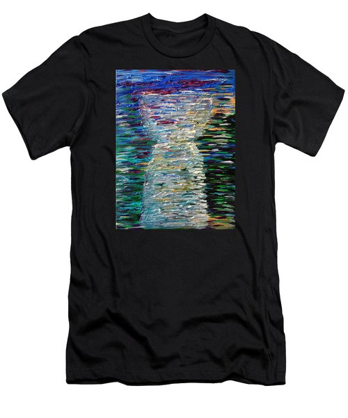 Abstract Latte Stone Men's T-Shirt (Athletic Fit)