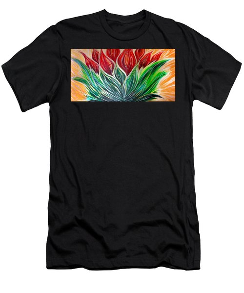 Abstract Lotus Men's T-Shirt (Athletic Fit)