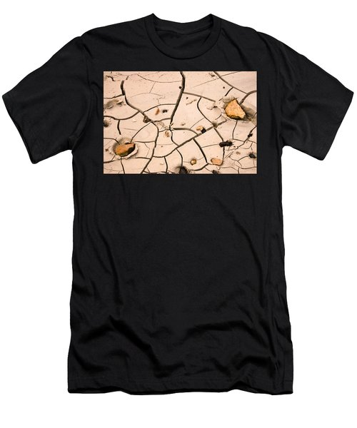 Abstract Mud Flat Pink Saturated Men's T-Shirt (Athletic Fit)