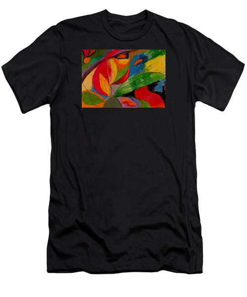 Abstract No. 5 Springtime Men's T-Shirt (Slim Fit) by Maria  Disley
