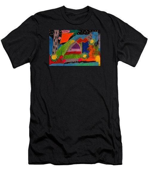 Abstract No. 7 Inner Landscape Men's T-Shirt (Athletic Fit)
