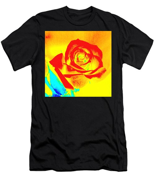 Single Orange Rose Abstract Men's T-Shirt (Athletic Fit)