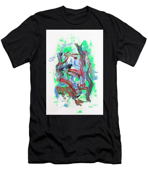 Abstract Painting. Division Is Their Narrative Men's T-Shirt (Athletic Fit)