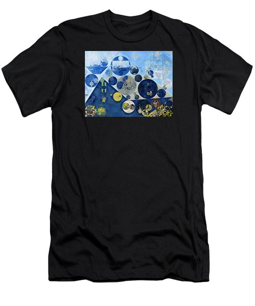 Abstract Painting - Kashmir Blue Men's T-Shirt (Athletic Fit)