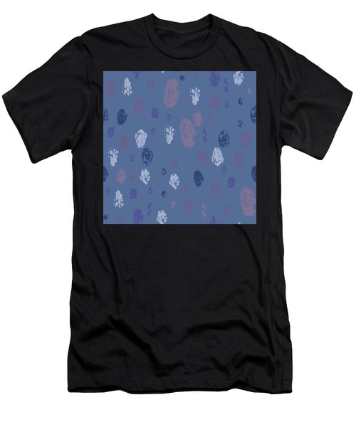 Abstract Rain On Blue Men's T-Shirt (Athletic Fit)