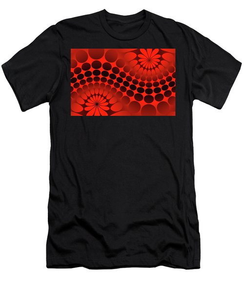 Abstract Red And Black Ornament Men's T-Shirt (Athletic Fit)