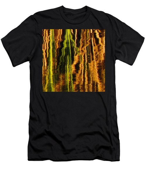 Abstract Reeds Triptych Middle Men's T-Shirt (Athletic Fit)