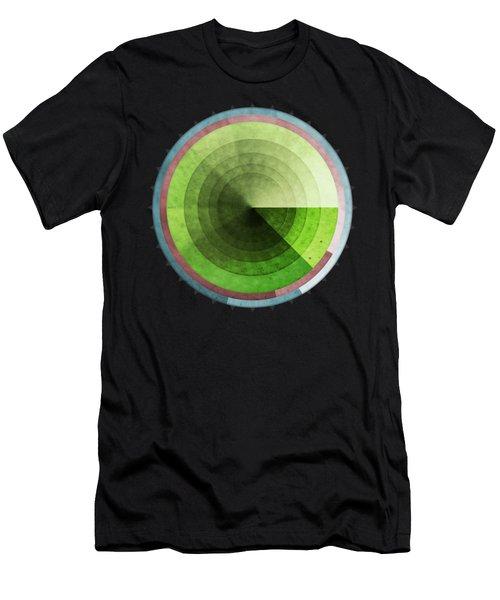 Abstract Rings Of Green Men's T-Shirt (Athletic Fit)