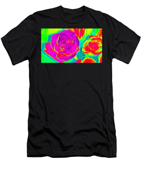 Blooming Roses Abstract Men's T-Shirt (Athletic Fit)