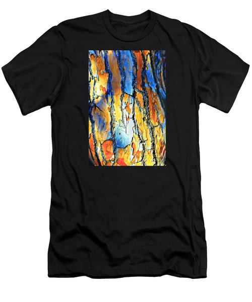 Abstract Saturated Tree Bark Men's T-Shirt (Athletic Fit)