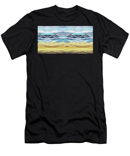 Abstract Seascape Beach House Interior Decor I Men's T-Shirt (Athletic Fit)