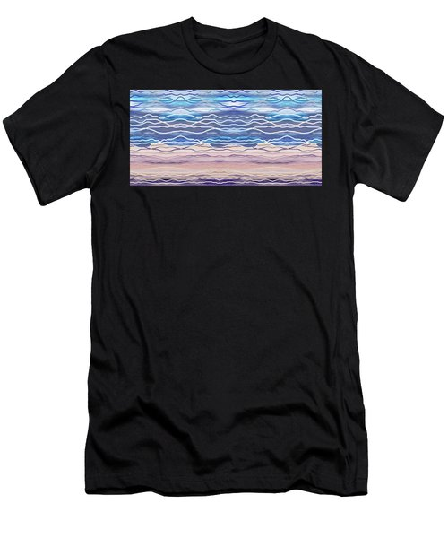 Abstract Seascape Beach House Interior Decor II Men's T-Shirt (Athletic Fit)