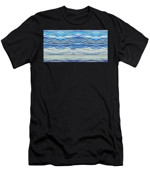 Abstract Seascape Beach House Interior Decor IIi Men's T-Shirt (Athletic Fit)