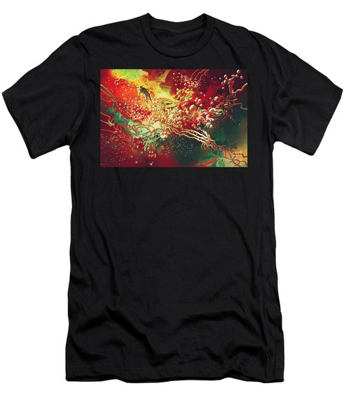 Abstract Space Men's T-Shirt (Athletic Fit)