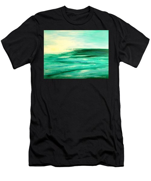 Abstract Sunset In Blue And Green Men's T-Shirt (Athletic Fit)