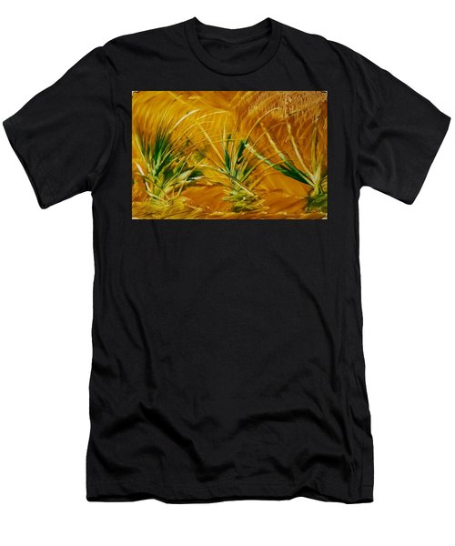 Abstract Yellow, Green Fields   Men's T-Shirt (Athletic Fit)