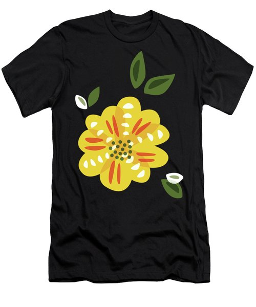 Abstract Yellow Primrose Flower Men's T-Shirt (Athletic Fit)