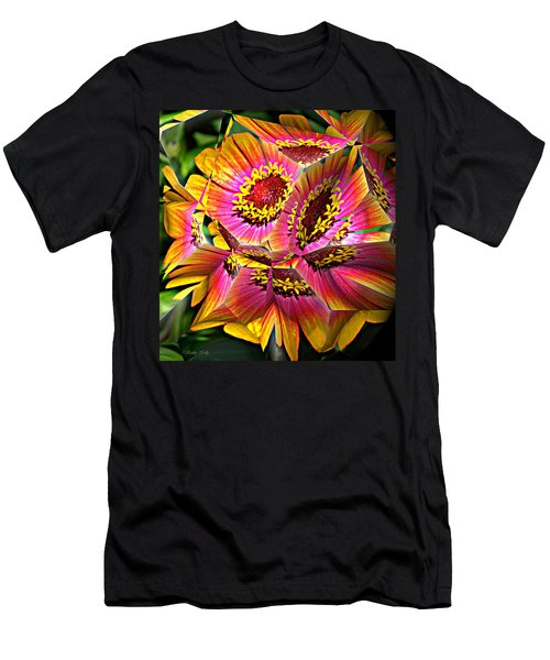Abstract Yellow Flame Zinnia Men's T-Shirt (Athletic Fit)