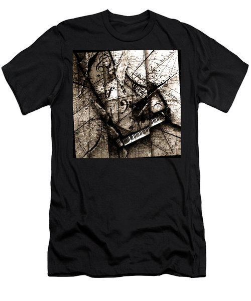 Abstracta 27 The Grand Illusion  Men's T-Shirt (Slim Fit) by Gary Bodnar