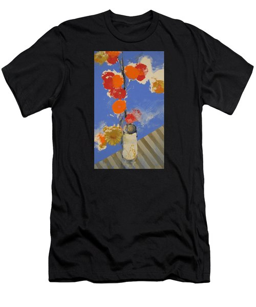 Abstracted Flowers In Ceramic Vase  Men's T-Shirt (Athletic Fit)