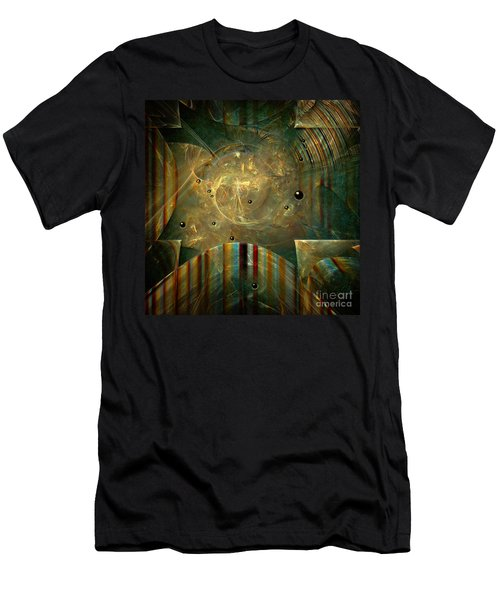 Men's T-Shirt (Slim Fit) featuring the painting Abstractus by Alexa Szlavics