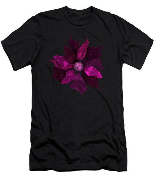 Abstrct Violet Flower Men's T-Shirt (Athletic Fit)
