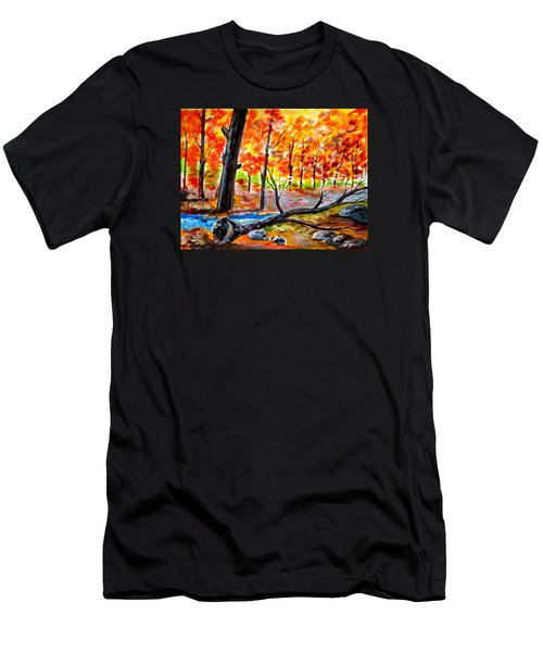Fire In The Forest Men's T-Shirt (Athletic Fit)