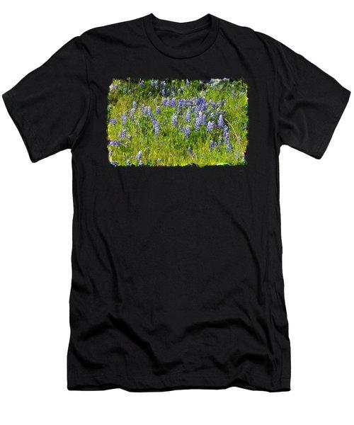 Abundance Of Blue Bonnets Men's T-Shirt (Athletic Fit)