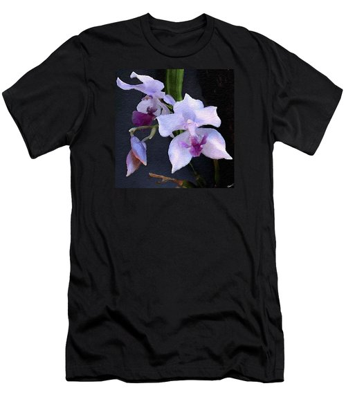 Acacallis Cyanea. Orchid Men's T-Shirt (Athletic Fit)