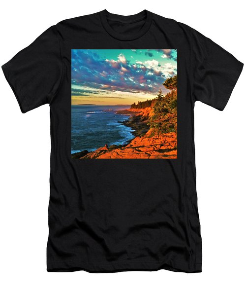 Acadia At Dawn Men's T-Shirt (Athletic Fit)