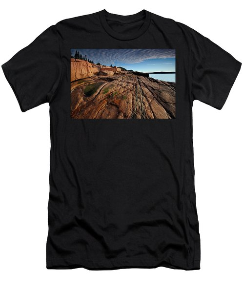 Acadia Rocks Men's T-Shirt (Slim Fit) by Neil Shapiro