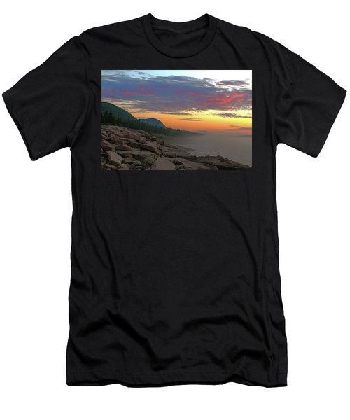 Acadia Sunrise  Men's T-Shirt (Athletic Fit)