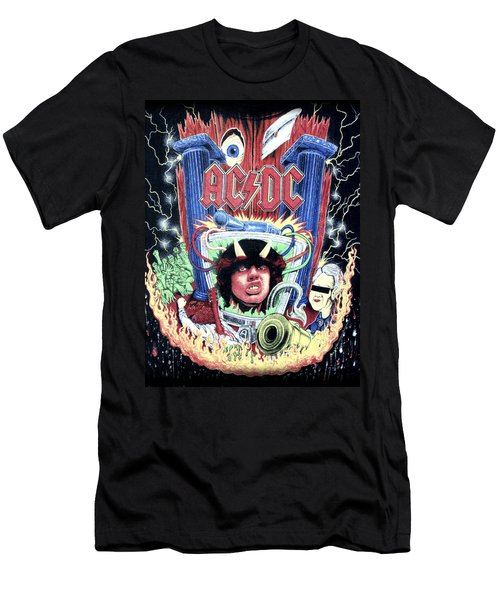 Men's T-Shirt (Slim Fit) featuring the digital art Acdc by Gina Dsgn