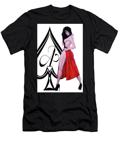 Men's T-Shirt (Slim Fit) featuring the digital art Ace Of Spades 2 by Joseph Ogle