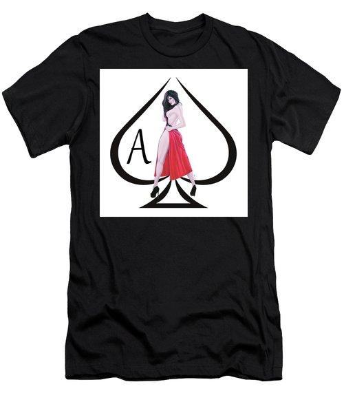 Men's T-Shirt (Slim Fit) featuring the digital art Ace Of Spades3 by Joseph Ogle