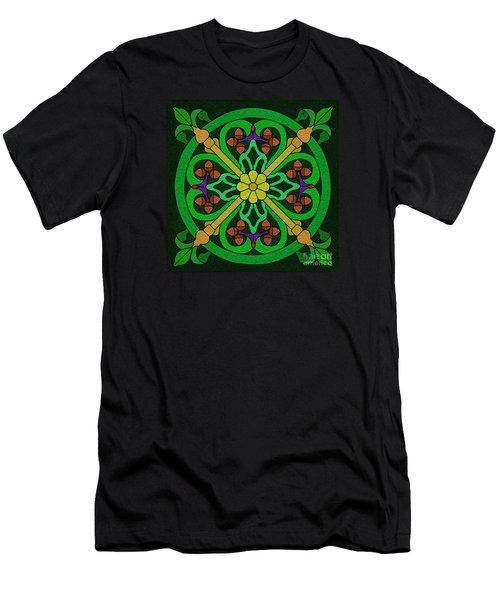 Acorn On Dark Green Men's T-Shirt (Athletic Fit)