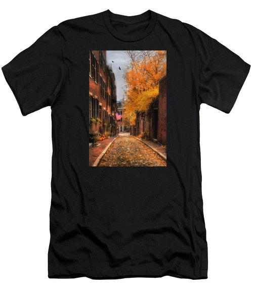 Acorn St. Men's T-Shirt (Slim Fit) by Joann Vitali
