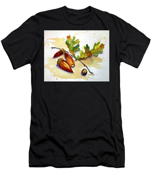 Acorns And Leaves Men's T-Shirt (Athletic Fit)