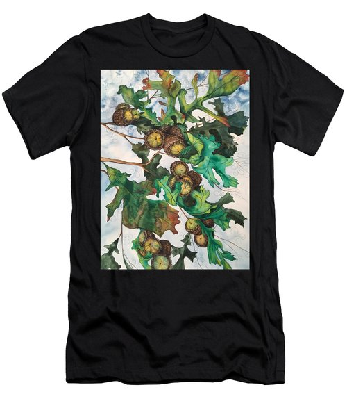 Acorns On An Oak  Men's T-Shirt (Athletic Fit)
