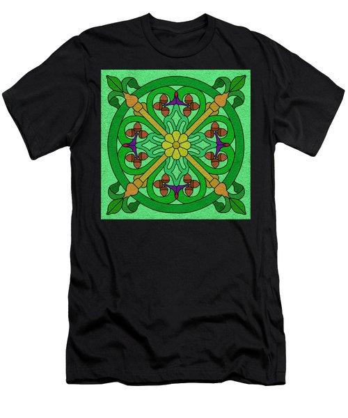 Acorns On Light Green Men's T-Shirt (Athletic Fit)