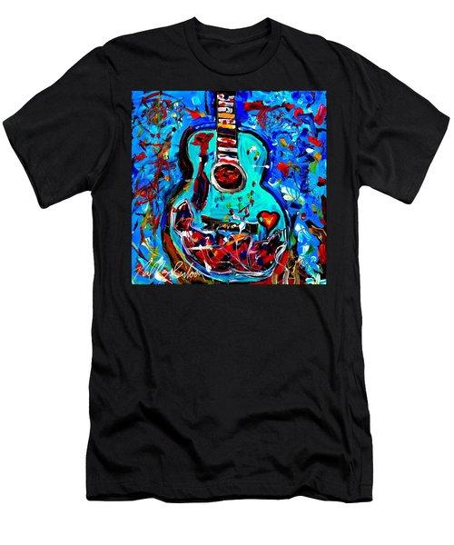Acoustic Love Guitar Men's T-Shirt (Athletic Fit)