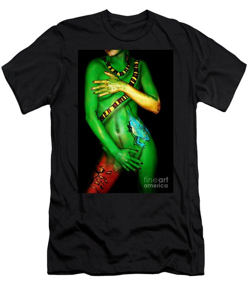 Men's T-Shirt (Slim Fit) featuring the painting acrylic on FLESH by Tbone Oliver