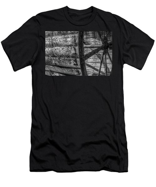 Men's T-Shirt (Athletic Fit) featuring the photograph Adam's Mill Water Wheel by Melissa Lane