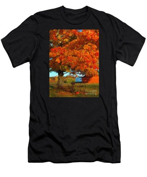 Adirondack Autumn Color Brush Men's T-Shirt (Athletic Fit)
