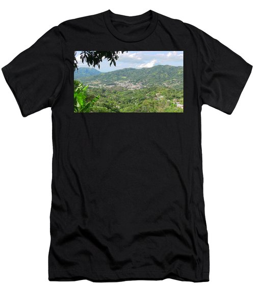 Adjuntas Town Men's T-Shirt (Athletic Fit)